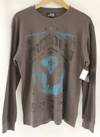 Xg Dark Grey Long Sleeve Freedom Eagle Men's Shirt Small