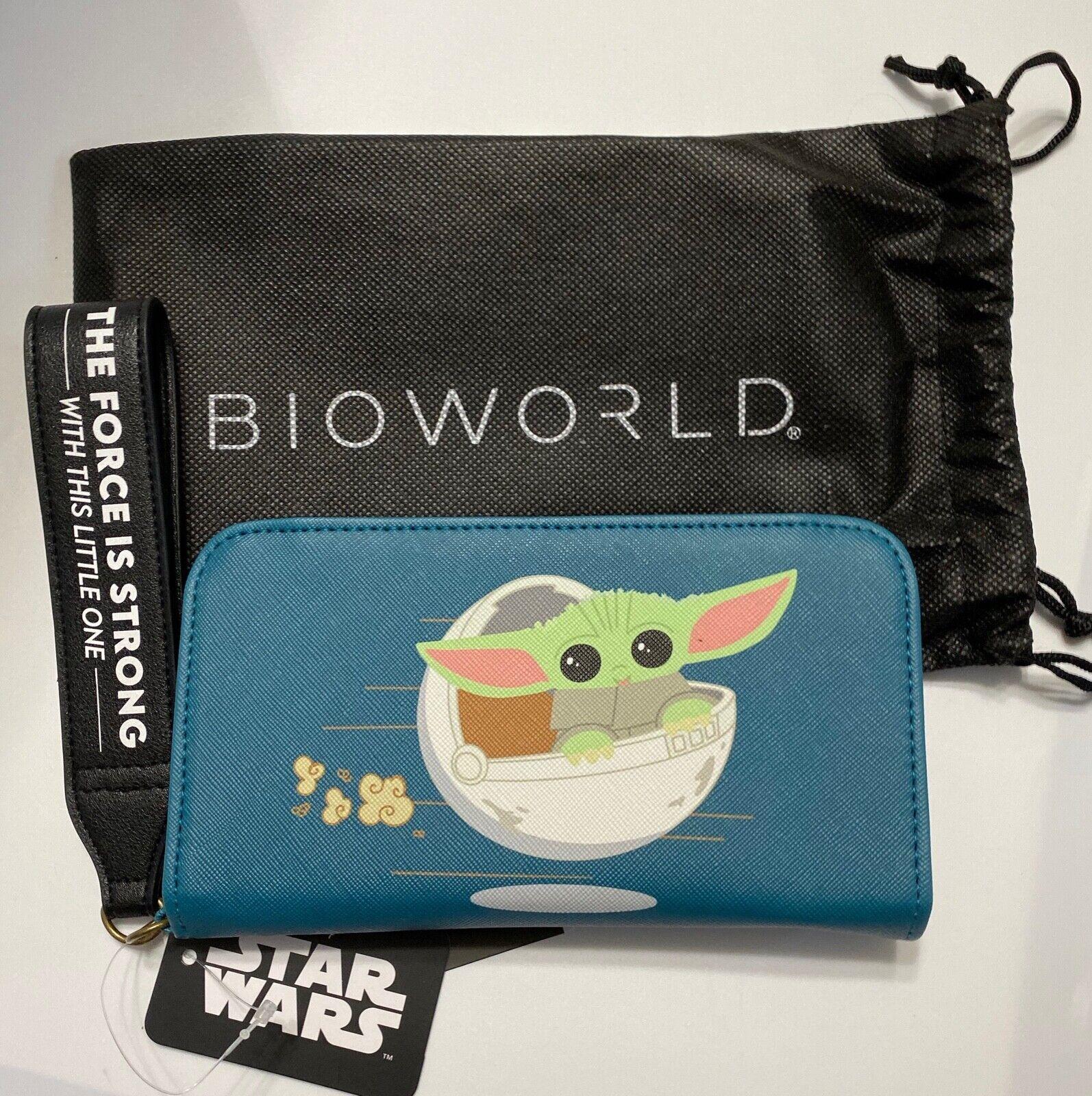 ! nuevo con etiquetas! Bioworld Star Wars The Mandalorian el niño Tech Teléfono Cartera Bolso de mano