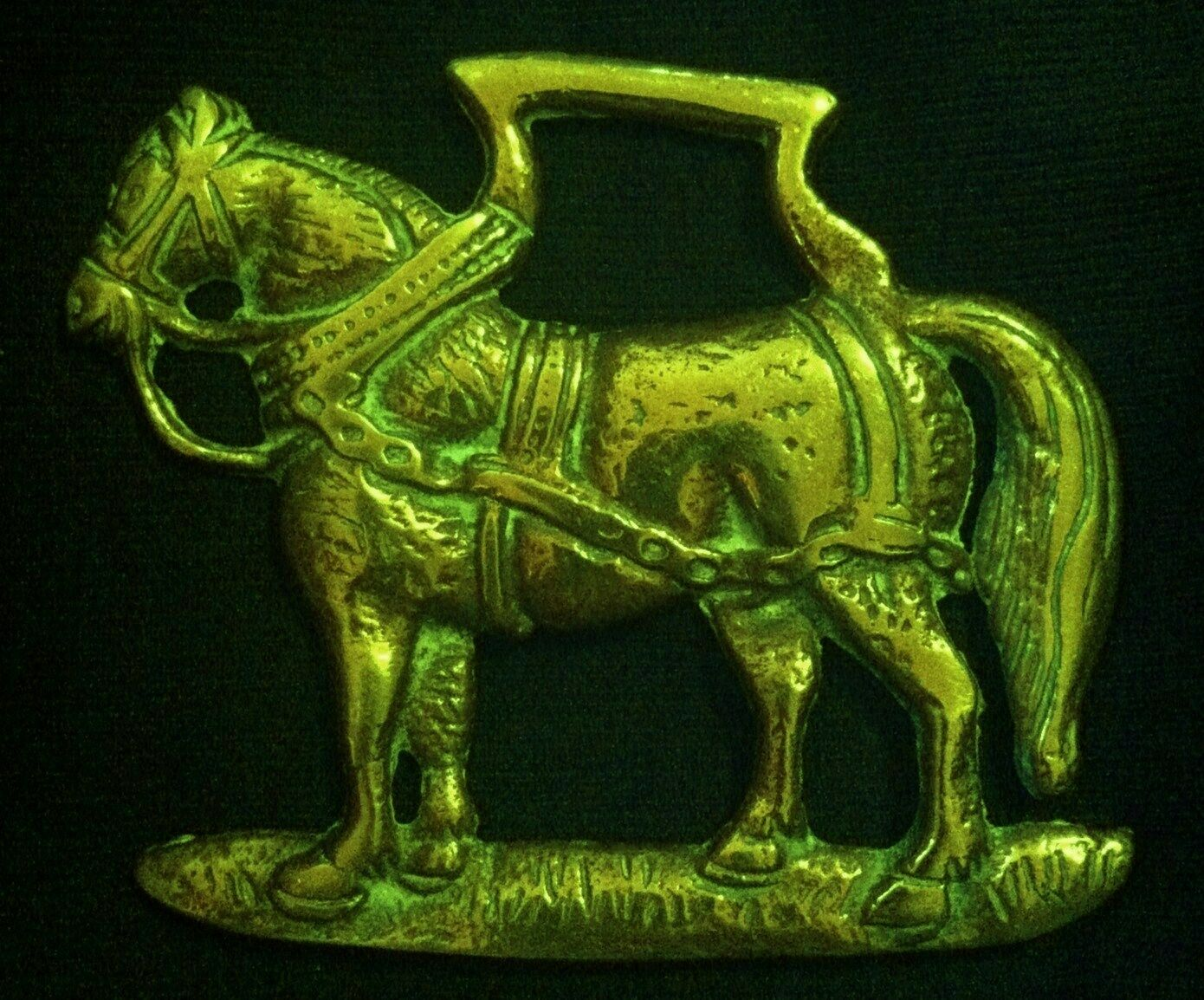 Freestanding HARNESS HORSE Horse Harness Brass frm England Gift  WOW YOUR WALLS