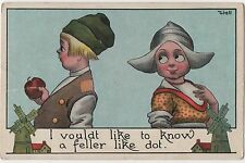 POSTCARD COMIC Children  Dutch Kids