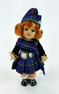 Vintage-Vogue-Ginny-Doll-Scottish-Outfit-Red-Hair-Doll-HTF-Rare-Frolicking-Fable