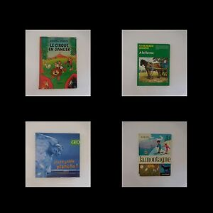 4-Libros-Juvenil-Circo-Granja-Montana-Planet-Vintage-1957-2004