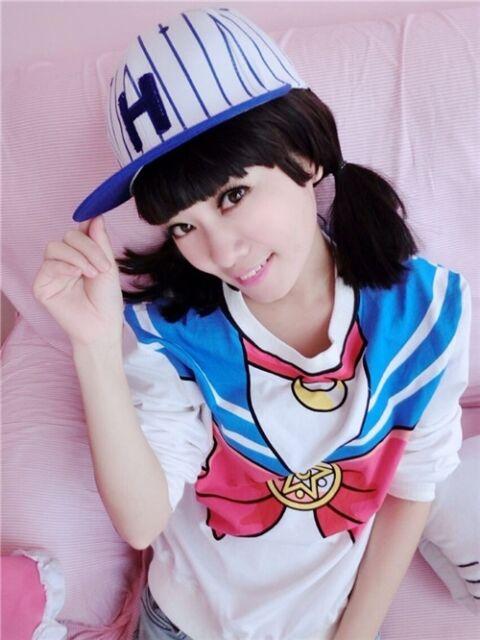 Sailor Moon Harajuku Sweater Sweatshirt Tops Kawaii Cosplay Long Sleeve New