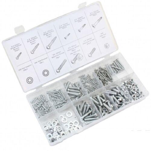 347 pièces pièces métriques Taille écrou et boulon Assortiment vis Hardware Kit
