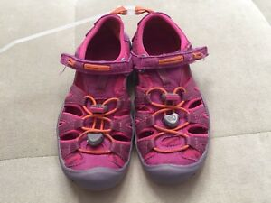 Girls-Keen-Shoes-Sandals-Size-12-Purple-Orange-Flexible-Soft-Washable