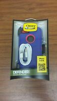 Otterbox Defender Case For Iphone 5/5s Blue/pink With Iphone 5/s Charging Cable