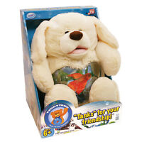 Teddy Tank Plush Puppy Dog Fish Tank Easter Basket Candy Holder Coin Bank