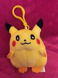 Pokemon-Pikachu-Bag-tag-Takara-Tomy-9cm-Soft-Toy