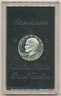 1974 PROOF IKE EISENHOWER SILVER DOLLAR MINT IN CASE OF ISSUE