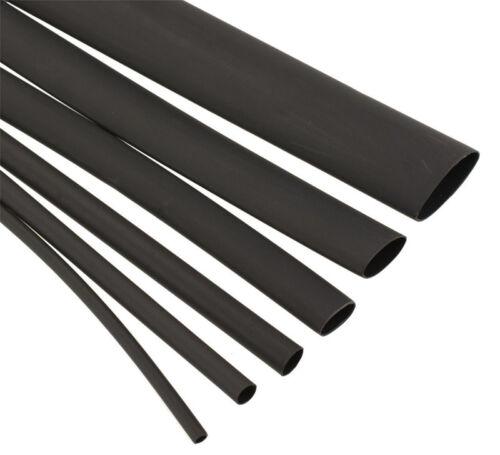 5m Schwarz 2:1 Wärmeschrumpf Hitze Schrumpfen Kabel Schläuche Für Isolierung Neu
