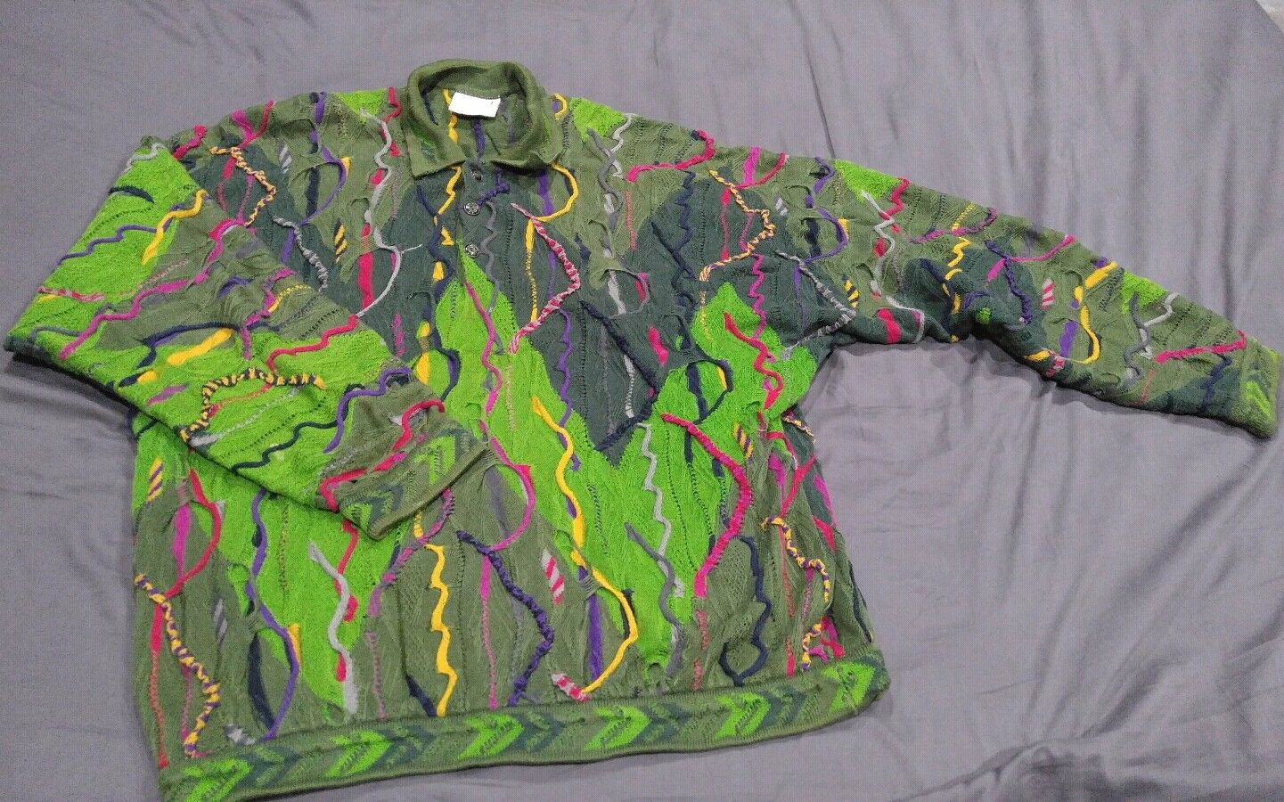 Vtg 90's XL Coogi Sweater EXC Condition 100% Mercerized Cotton Cosby Ugly Wild
