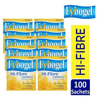 Fybogel Hi-Fibre Lemon Natural Fibre Drink 10 Sachets Sugar Free Pack Of 10