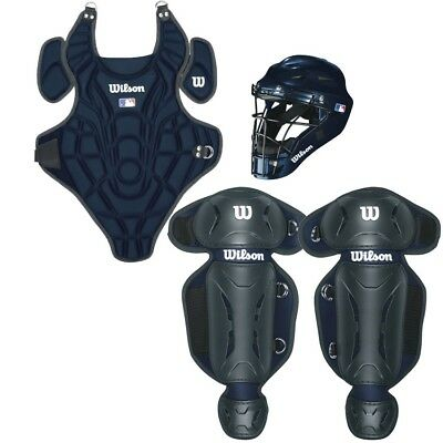 Wilson Youth EZ Gear Catcher's Kit, Navy, Small/Medium Ages 5 - 7 Years