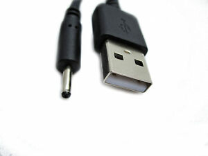 2m USB Black Charger Cable for Babymoov Babyphone Touch Screen Camera A014407