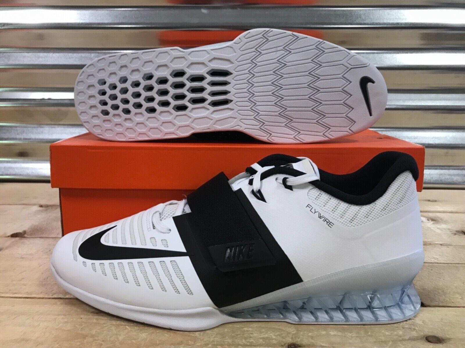 Nike Romaleos 3 3 3 Weightlifting Crossfit Trainer scarpe bianca nero SZ (852933-101) 48bcf9