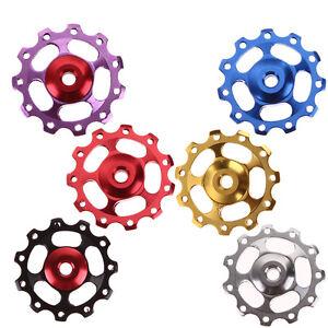 2pcs-11T-Bike-Bearing-Jockey-Wheel-Rear-Derailleur-Pulleys-Porose-Aluminum-Alloy