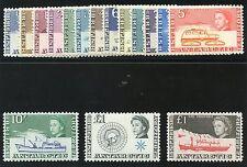 British Antarctic Territory 1963 QEII set complete MLH. SG 1-15a. Sc 1-15,24.