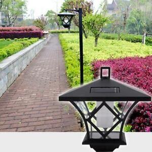 Black-LED-Solar-Powered-5-ft-Traditional-Garden-Lamp-Post-Lamppost-Lantern-Light