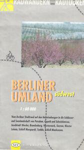Touristenkarte, Radwandern und Radtouren - Berliner Umland, südwest, um 1992