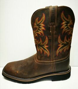 Original Works Boots Justin Men S Brown Size13 Stampede