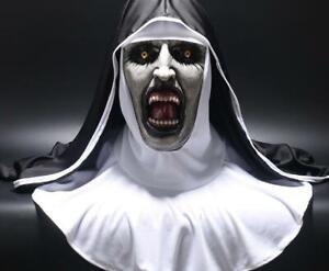 Maschera-suora-The-Nun-horror-halloween-per-adulti-lattice-mask-carnevale-unisex