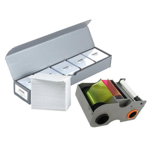 NEW Genuine Fargo 45010 YMCKOK Color Ribbon 500 PVC Cards KIT-45010
