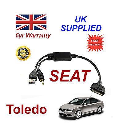 For Seat Toledo 6j0051700b Iphone 3gs 4 4s Ipod Audio Cable Und Ein Langes Leben Haben.