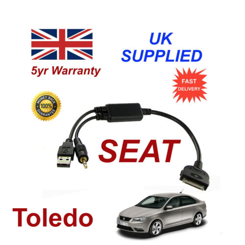 For Seat Toledo 6J0051700B iPhone 3GS 4 4S iPod Audio Cable