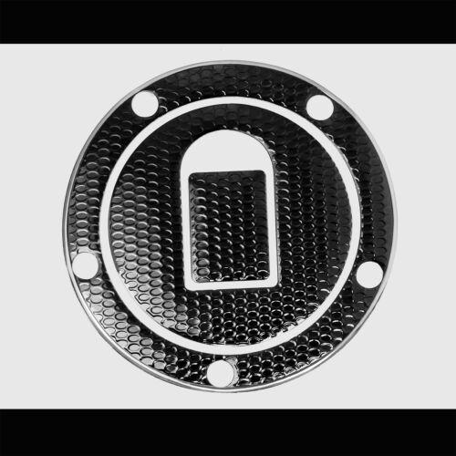 CHROME SILVER/&BLACK PRO GRIP TANK PAD+GAS CAP COVER 04-05 NINJA ZX-10R//6R//9R//ZZR