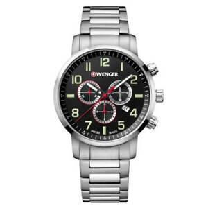 Wenger 01.1543.102 Men's Attitude Chrono Steel Bracelet Watch