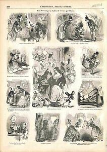 Les Domestiques Cocher serviteur employé de maison Valet de Cham GRAVURE 1848 - France - EBay THE DOMESTIC CHECK VALET HOUSEHOLD EMPLOYEE SERVANT CaricatureFrance ANTIQUE PRINTGRAVURE 100 % DÉPOQUE 1848 PORT GRATUIT EUROPE A PARTIR DE 4 OBJETS BUY 4 ITEMS AND EUROPE SHIPPING IS FREE Il s'agit d'un fragment de page originale avec tex - France