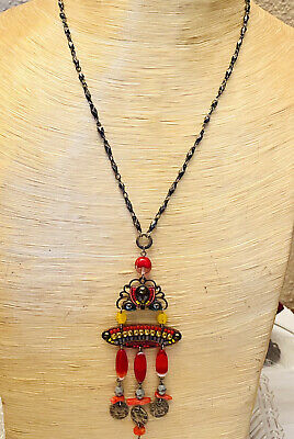 Vintage Napier extra long tassel necklace *FREE SHIPPING*