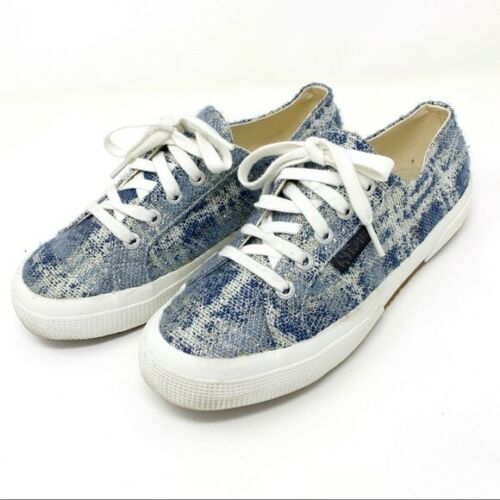 Superga size 6.5 37 The Man Repeller Tweed Blue Me