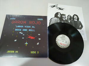 Baron-Rojo-Larga-Vida-al-Rock-and-Roll-Chapa-Discos-LP-12-034-Vinilo-VG-VG