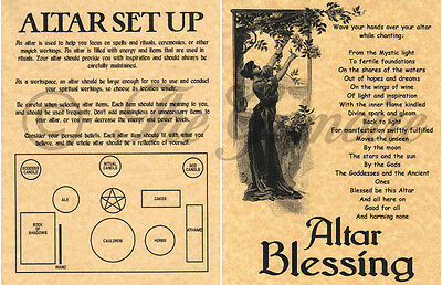 ALTAR SET UP & BLESSING, Book of Shadows Pages, Wicca, Witchcraft, BOS |  eBay