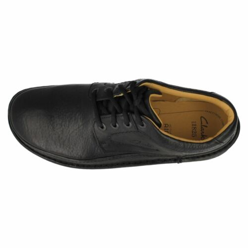 NATURE THREE MENS CLARKS LACE UP CASUAL ACTIVE AIR LEATHER SHOES