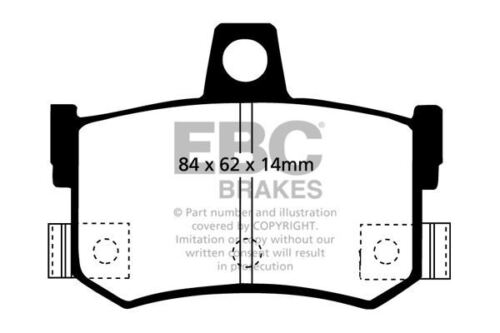 DP4662//2R EBC Yellowstuff Rear Brake Pads fit Atom Libra F F Trophy TF Vortex GT