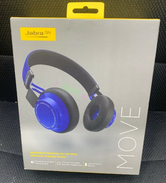 Jabra Move Cobalt Blue Headphones Stereo Wireless Bluetooth Model Ote21 For Sale Online Ebay