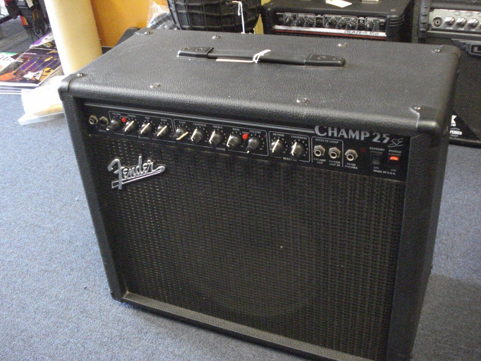 Fender Champ 25 SE Guitarra Guitarra Guitarra Amplificador De Tubo d8c319