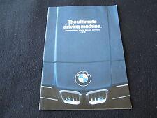 1978 BMW 320i 530i 633CSi 733i Brochure Race Cars Calder Stella Art Car Catalog