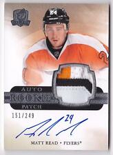 MATT READ RC 2011-12 UPPER DECK THE CUP 3 COLOR PATCH AUTO #151/249 FLYERS