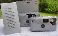 10 Shiny Silver Color Film Disposable Wedding Cameras Party Favors 35mm 27exp