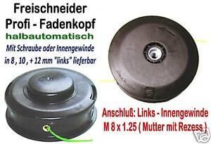 M8x1.25 LH  Flanschschraube Mutter Für Trimmer Freischneider Teil