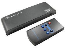 3 PORT HDMI V2.0 SWITCH HD 3 Way HD 4K x 2K @ 60Hz 3DTV HDR DSD HBR + IR Remote