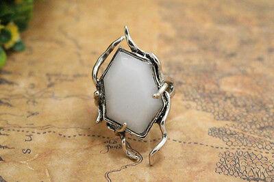 The Hobbit Thranduil ring white stone ring Mirkwood elf King ring LOTR ring