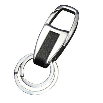New Men Creative Metal Leather Key Chain Ring Keyfob Car Keyring Keychain Gift