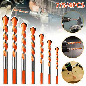 7PCS Ultimate Drill Bits Multifunctional Ceramic Glass Punching Hole Hard Alloy
