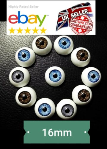"""Nueva Muñeca/"""" 16mm Muñeco de peluche muñeca de ojos de Acrílico Redondo Globo Ocular Medio Oso Crafts"""