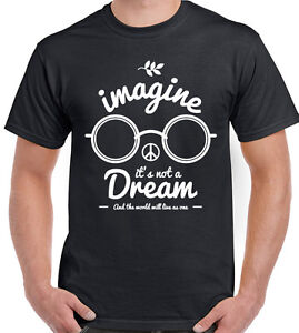 Imagine-it-039-s-not-a-Dream-Hombre-Divertido-John-Lennon-Camiseta-The-Beatles