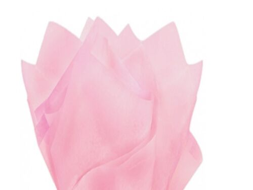 Light Pink Tissue Paper Wrapping Sheets 35x45cm 18gsm Acid Free